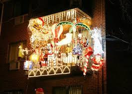 balcony lighting decorating ideas. apartment christmas decorating ideas lights blaze on balcony of th st in elmhurst queens decoration fantastic lighting