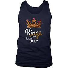 Birthday Vest Design Kings Are Born In July Birthday B Day Gift Mens Tank