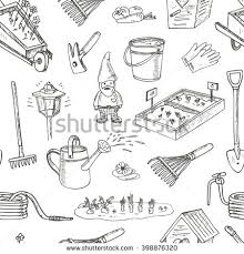 Small Picture Garden Tools Doodle Set Various Equipment Stock Vector 393579598