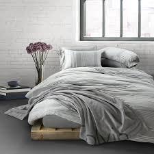 modern cotton rhythm duvet cover indigo