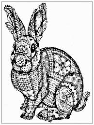 realistic rabbit coloring pages. Interesting Realistic Free Adult Coloring Pages To Print  Free Rabbit Coloring Pages For Adult Realistic  In B