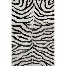 get ations nuloom handmade zebra black faux silk wool rug 3 x