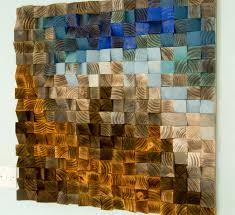 wood painting inspirational wood wall art wood mosaic geometric art large art