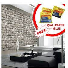 Korea (106cmx1506cm) 3D Brick Wallpaper ...