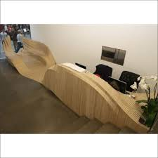 wood reception desk modern reception counter