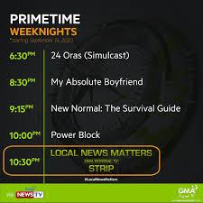 Trendrod Box - LOOK: GMA News TV's new primetime schedule.