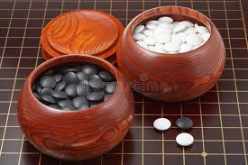 Game With Stones And Wooden Board Go Game Stones And Wooden Bowls On Wood Board Stock Photo Image 31