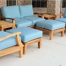 outdoor deep seating sofa cushion sunbrella cushions deep teak sofa teak deep seating set