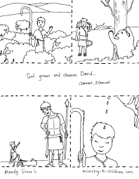 David And Goliath Coloring Pages Printables With David Becomes King