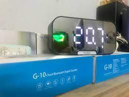 Đồng Hồ Kiêm Loa Bluetooth G10 Mặt Gương Hiển Thị Đèn Led (Có giá đỡ điện  thoại) - Loa Bluetooth Thương hiệu OEM