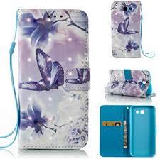 Galaxy J7 Sky Pro Case,HAOTP 3D Beauty Luxury <b>Fashion PU Flip</b> ...