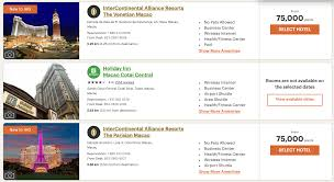 Ihg Category Chart Ihg Adds Luxury Resorts In Macau New Top Award Category