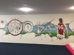 Graffiti Ajax Kamer Kinderkamer Voetbal Johan Graffiti Kinderkamer