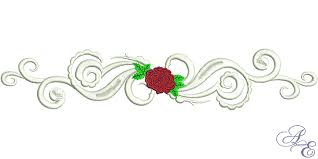 Scroll Border Designs Art Of Embroidery Rose Scroll Border Machine Embroidery