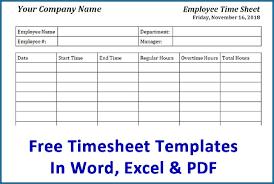 Employee Time Tracking Spreadsheet Free 963