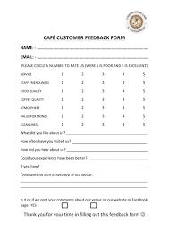 Feedback Customer Feedback Form Word Template Gse Bookbinder Co