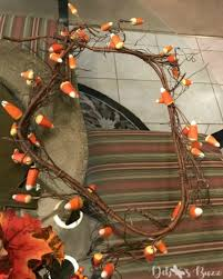 decorate a chandelier fall easy steps candy corn