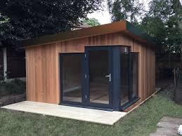 home office in garden. Bespoke Pods. Garden Pod Home Office In