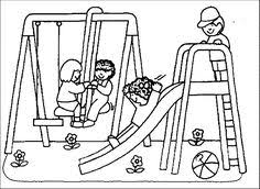 10 Delightful Playground Coloring Pages Images Coloring Pages