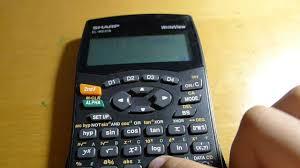 calculator tricks using sharp el w531s writeview