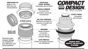 Oil Drain Plug Products Parts No Spill Systems