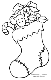 christmas stocking clip art black and white. Delighful White Large Christmas Stocking Coloring Page With Pages Free Images And Kids Gamz  Me In Clip Art Black White S