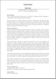 Skill Resume Credit Analyst Resume Sample Resume For Credit