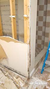 water damaged drywall