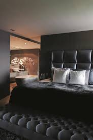 bedroom  awesome bachelor pad bedroom with black modern bed feat