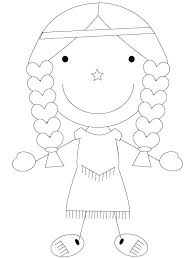 Pilgrim And Indian Coloring Sheets Thanksgiving Coloring Pages