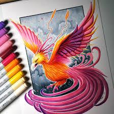 Drawing Of A Phoenix Rome Fontanacountryinn Com