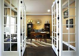 home office doors. Office French Doors Contemporary Home With Hardwood Floors . I