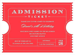 Samples Of Tickets For Events Entry Ticket Template Hannahjeanne Me