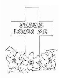 Jesus Loves Me Jesus Love Me Cross Coloring Page Sunday School