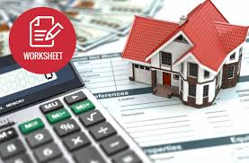 building a home budget household budget worksheet