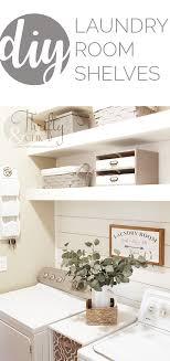 diy laundry room shelves and shiplap wall small laundry room organization and shelf ideas