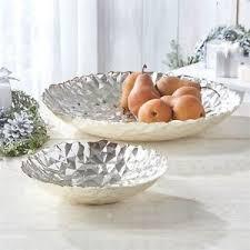 Large Silver Decorative Bowl Glacier Silver Hammered Decorative Bowls Medium 100cm Or Large 83