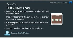 How To Create A Size Chart Opencart Opencart Product Size Chart