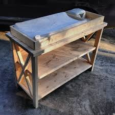 diy baby furniture. Rustic X Changing Table - Front, Unfinished Diy Baby Furniture W