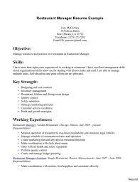 Waiter Resume Head Skills Objective Job Description Cv Sample Pdf
