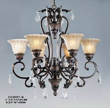 exquisite 6 light copper chandelier at s
