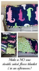 No Sew Double Sided Fleece Blanket