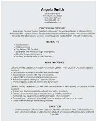 Daycare Resume Samples Terrific Daycare Assistant Resume Fresh