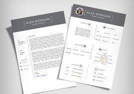 Free Minimalist Resume Template Cover Letter Ai File