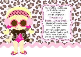 Cheetah Print Party Invitations Kids Birthday Invitations Featuring