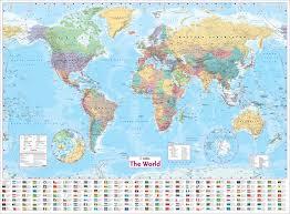 world wall laminated map collins uk 8601200955422 com books