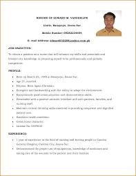 Pleasing Resume For Nurses Sample Philippines In Sample Nursing