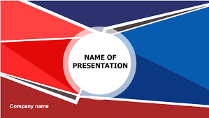 Red Ppt Download Free Red Blue Powerpoint Template For Presentation