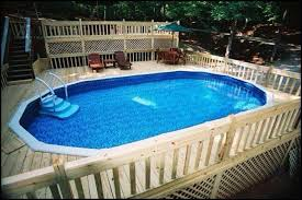 Above ground pool deck Privacy View Our Above Ground Pool Photos 21st Century Pools Spas Doughboy Pools Photo Gallery