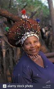 near pretoria woman of zulu tribe